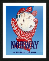 Norway Fistful of Fun Picture Frame print