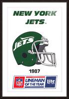 1987 New York Jets Helmet Art Picture Frame print