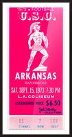 1973 usc trojans arkansas college football ticket stub art Picture Frame print