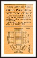 vintage college football stadium map art byrd stadium college park md Picture Frame print