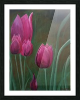 Red Tulips Picture Frame print