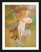 Mucha Spring Picture Frame print