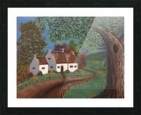 Summer cottage Picture Frame print