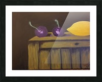Lemon and Plums Picture Frame print
