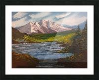 Mountain lake Picture Frame print