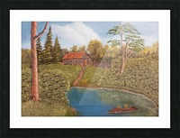 Hunting lodge Picture Frame print