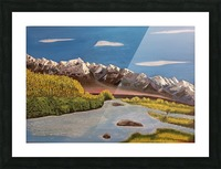 River Indus Picture Frame print