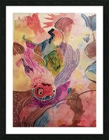Carp abstract Picture Frame print