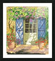 Rose cottage Picture Frame print