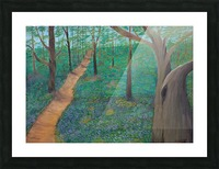 Bluebell woods oxford Picture Frame print