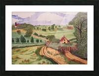 Village countryside Picture Frame print