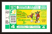 1972 world series oakland athletics Picture Frame print