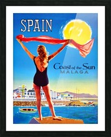 Girl on Malaga Beach Picture Frame print