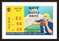 1960 navy notre dame ticket stub canvas Picture Frame print