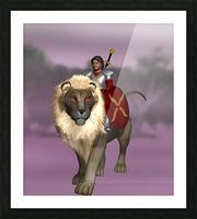 Halfling Warrior Picture Frame print