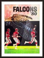 1980 retro nfl atlanta falcons poster Picture Frame print