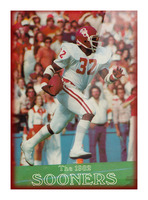 1982 oklahoma sooners retro college football poster Picture Frame print
