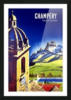 Champery Picture Frame print