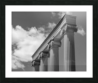KIng West Columns Picture Frame print