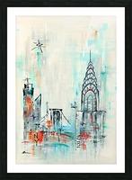 New York skyline Picture Frame print