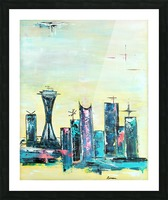 Uptown Seattle  Picture Frame print