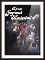 vintage kansas jayhawks basketball poster ku 1982 Picture Frame print