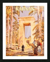 Karnak Picture Frame print