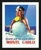 Monte carlo Picture Frame print