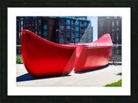 Red Canoe Picture Frame print