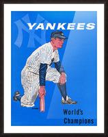 1958 New York Yankees Vintage Baseball Art Picture Frame print