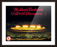 1967 Cardinals World Series Champions Poster Baseball Art Wood Prints Picture Frame print