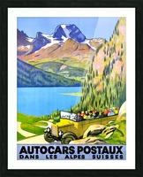 Swiss Alps by Car Picture Frame print
