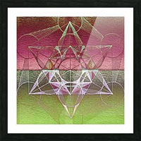 Cube of Metatron Red Green Picture Frame print