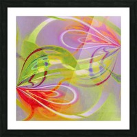 Infinity Painting Green Picture Frame print