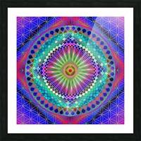 Vintage Sun Mandala Picture Frame print