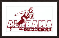 row one brand vintage alabama football crimson tide wood sign Picture Frame print