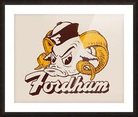 vintage fordham ram mascot college art Picture Frame print