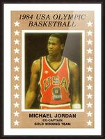 1984 USA Olympic Basketball Michael Jordan Picture Frame print
