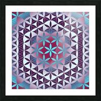 Flower of Life Hexagon Pattern Picture Frame print