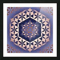 Flower of Life Mandala Pattern Picture Frame print
