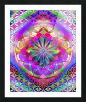 Crystal Flower Mandala Picture Frame print