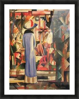 Large bright showcase by Macke Picture Frame print