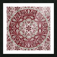 Vintage Star Caleidoscope Handdrawing Picture Frame print