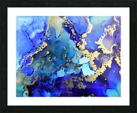 Starlight in Blue Picture Frame print