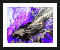 Purple Mirage II Picture Frame print