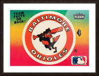 1983 fleer baseball stickers baltimore orioles wood print Picture Frame print