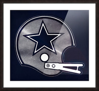 vintage dallas cowboys nfl helmet art Picture Frame print