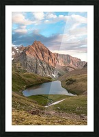 Sunrise on the Mountain Picture Frame print