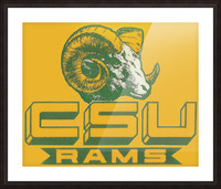 vintage colorado state university rams wood sign Picture Frame print