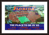 1983 college football florida gators place to be in 83 Picture Frame print